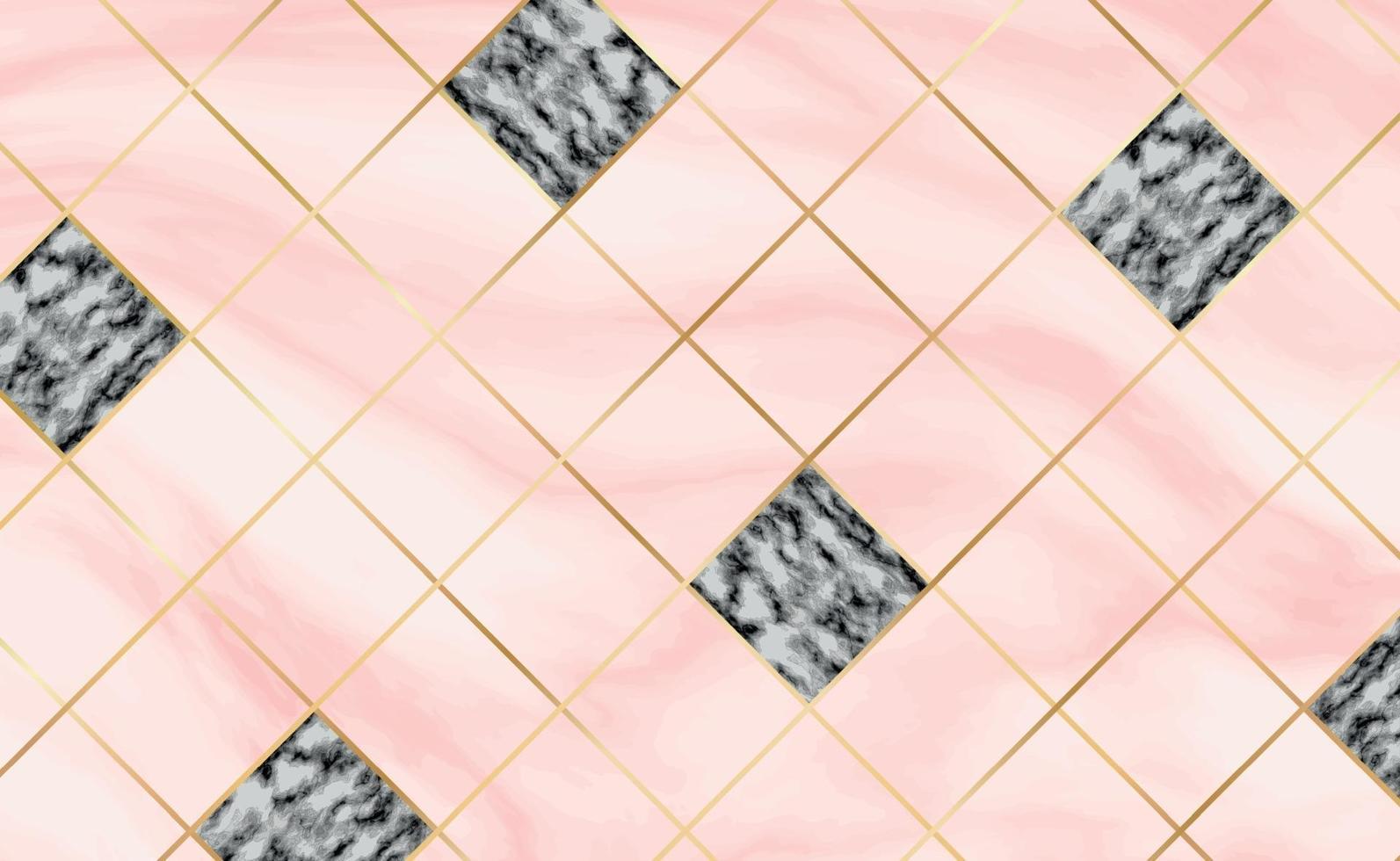 carreaux de pierre, texture blanche avec fond de marbre rouge, lignes dorées - vecteur