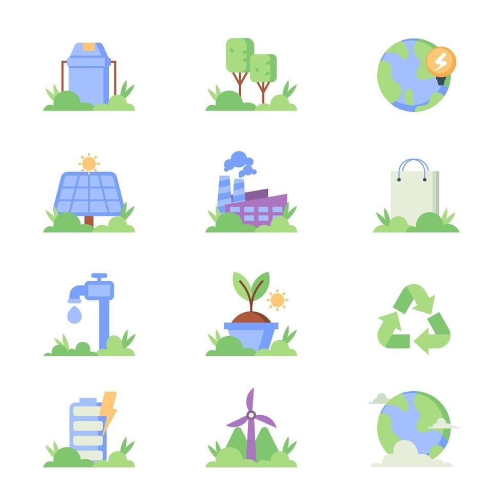 la technologie verte sauvera l'environnement vecteur