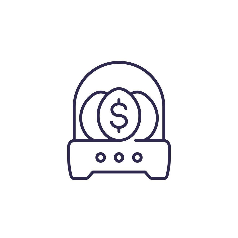 icône d'incubateur d'entreprise, dessin au trait vecteur