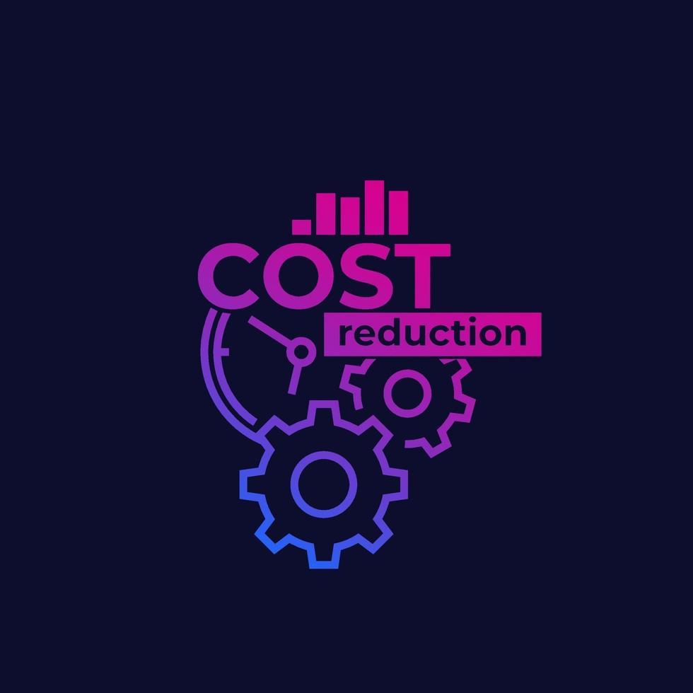 réduction des coûts, illustration vectorielle d'optimisation vecteur