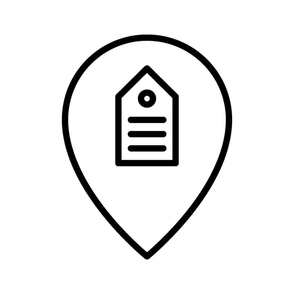 icône de localisation de vente vecteur