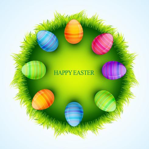 oeuf de Pâques coloré vecteur