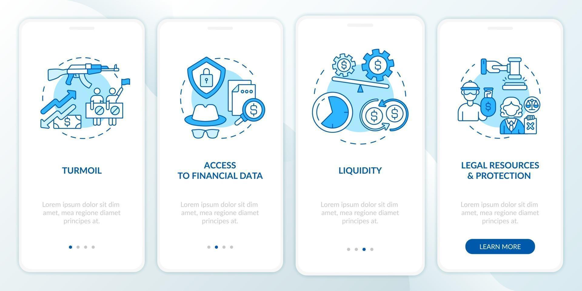 Problèmes liés aux actifs internationaux écran de la page d'intégration de l'application mobile avec concepts vecteur