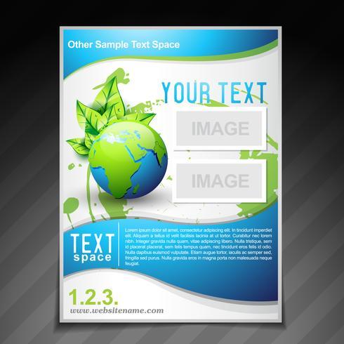 illustration de modèle pour le dépliant eco friendly brochure vecteur