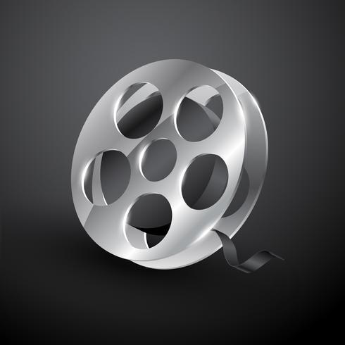 conception de bobines de film vecteur