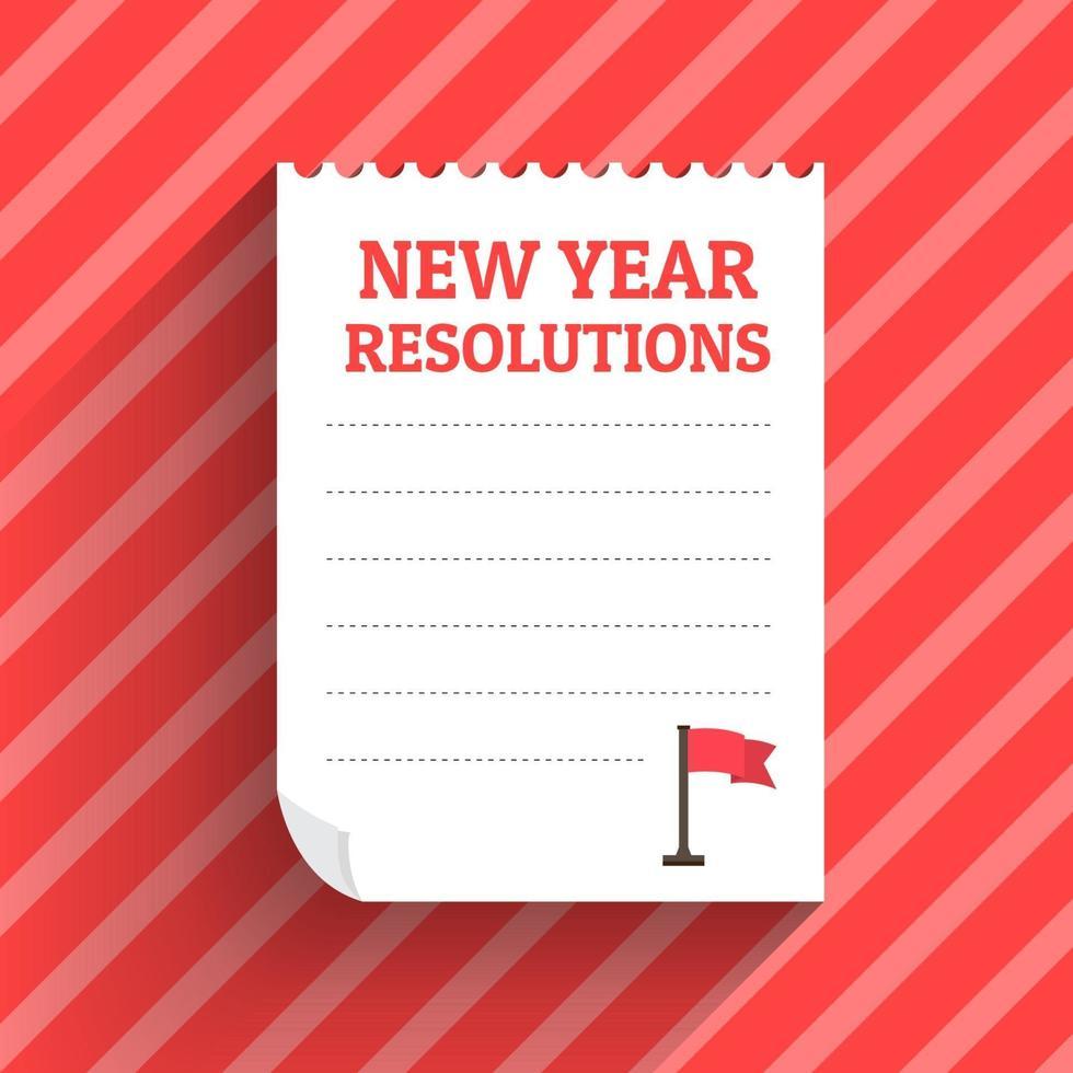 résolutions du nouvel an vecteur