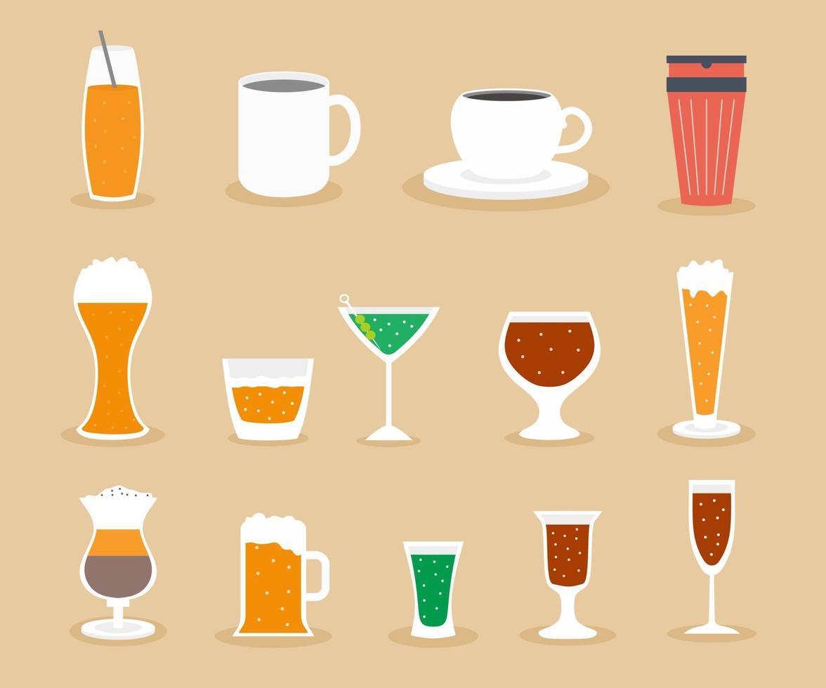 une collection d'icônes vectorielles de boisson. thé, café, alcool, vin,  bière, eau minérale, eau gazeuse, smoothie, cocktail, jus. 2215801 -  Telecharger Vectoriel Gratuit, Clipart Graphique, Vecteur Dessins et  Pictogramme Gratuit