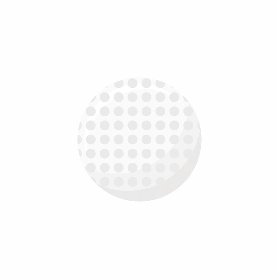 Élément de conception d'icône de balle de golf isolé sur fond blanc. équipement pour le sport, le mode de vie sain et l'activité physique. illustration vectorielle de style dessin animé plat pour les applications sportives et les sites Web vecteur