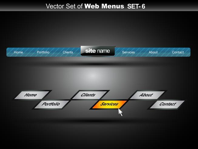 menu web vecteur