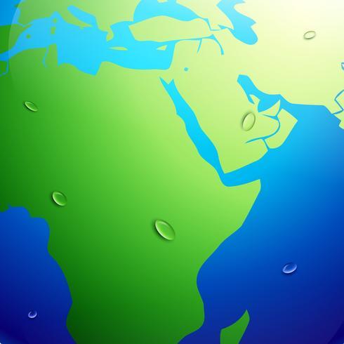 carte de la terre vecteur