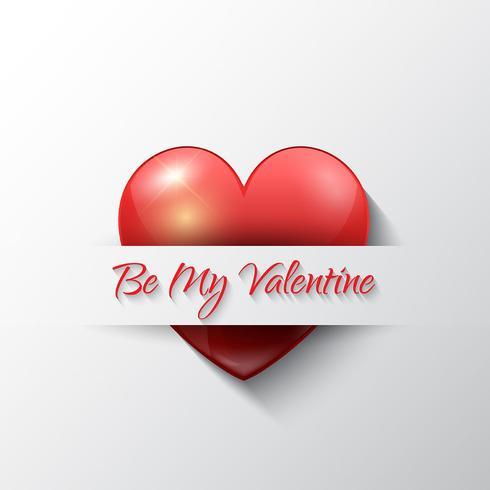 Fond de Saint Valentin avec coeur vecteur