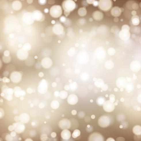 Fond de Noël avec des lumières de bokeh vecteur