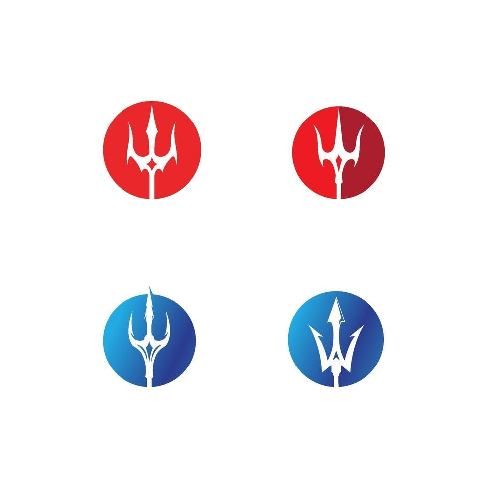 logo trident magique vecteur