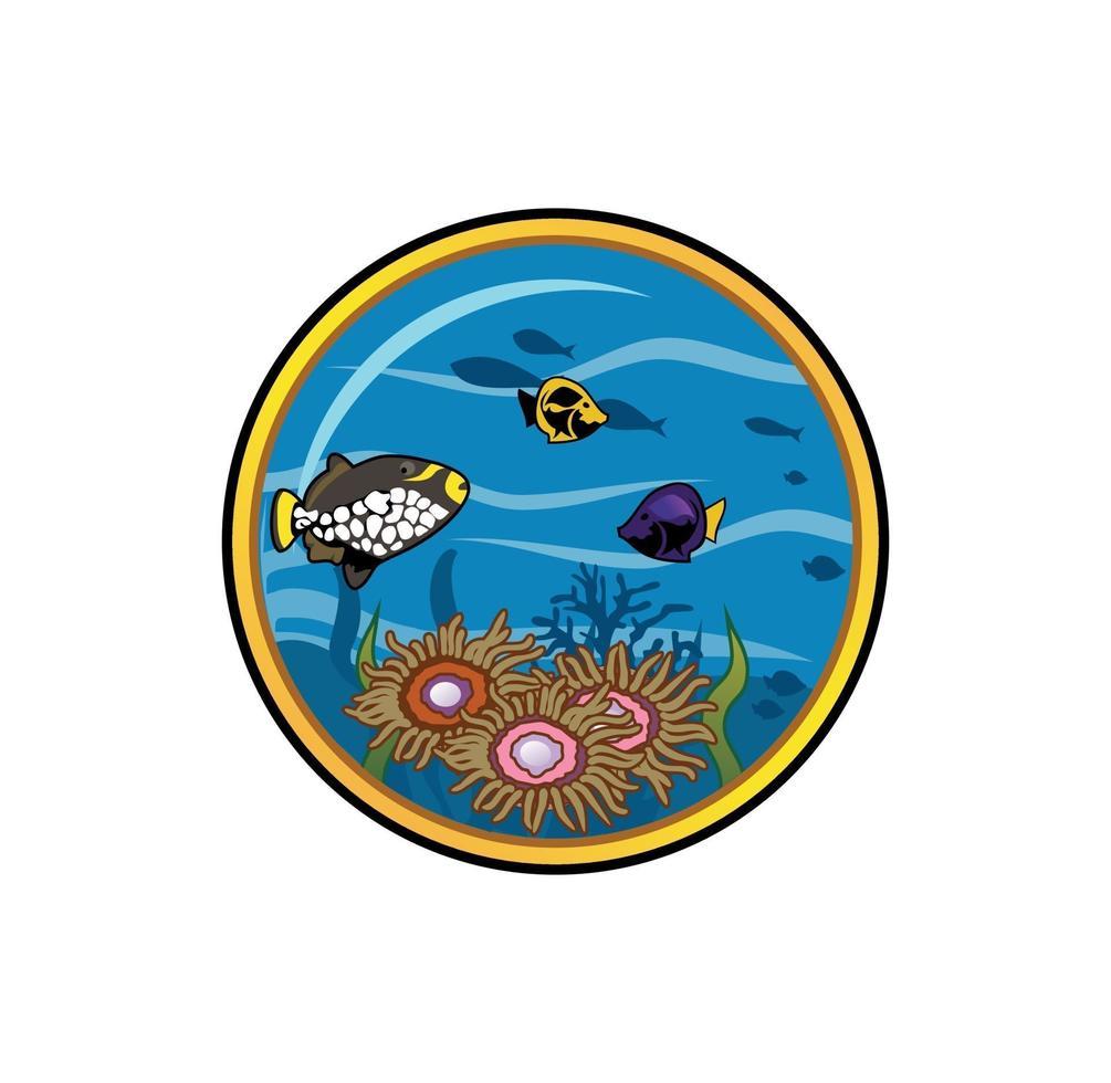 vecteur de sous le paysage de la mer