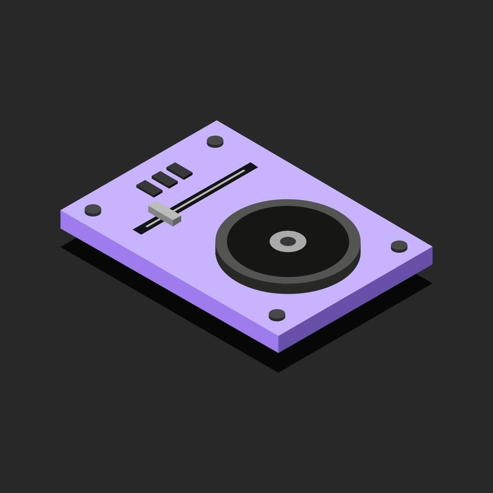 console dj isométrique sur fond vecteur