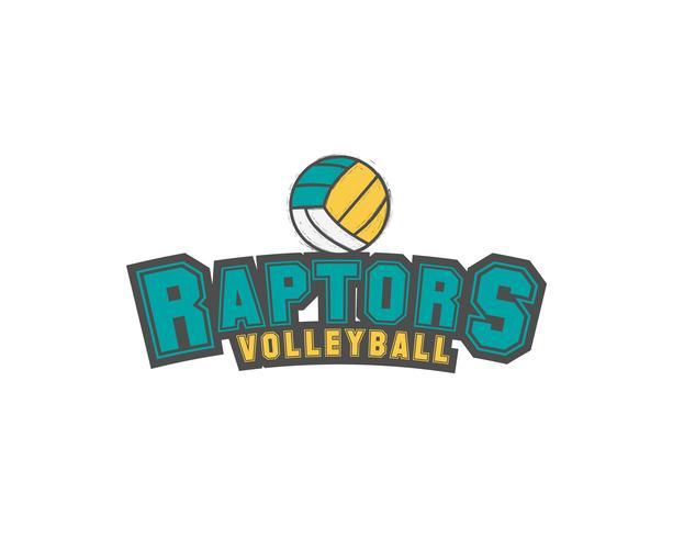 Emblème de club de volleyball, logo de ligue universitaire, élément de modèle de conception de rapaces, badge et étiquette de tournoi, concours, remorqueur, course, concours, émulation, jeu Insigne de sport. Vecteur