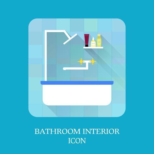 Icône intérieur de la salle de bain. Shampoing et savon. vecteur