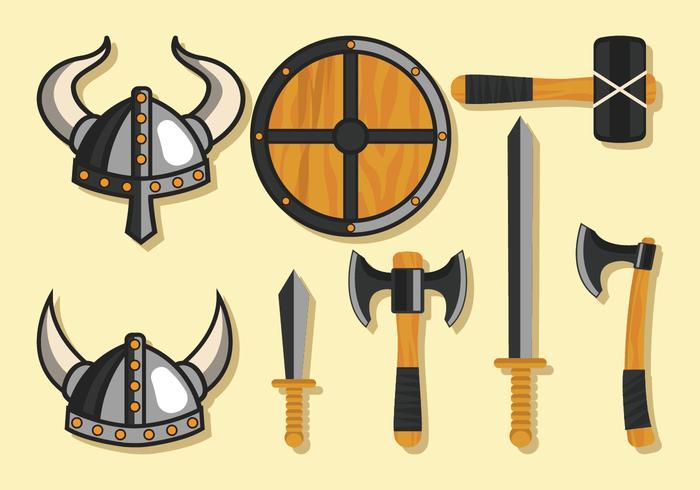 Ensemble d'armes Viking vecteur