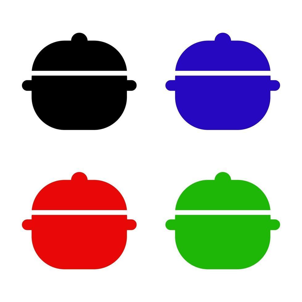 icône de pot isométrique sur fond vecteur