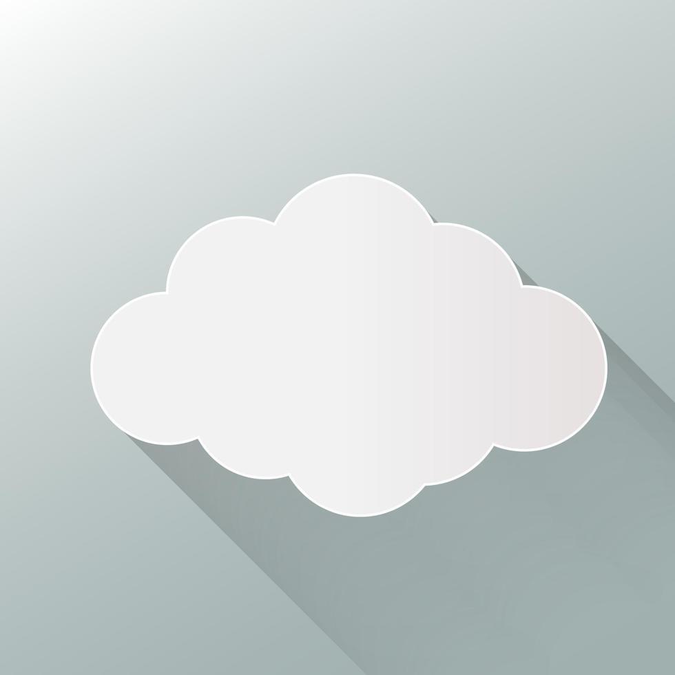 icône de nuage isolé sur fond. nuage plat. vecteur