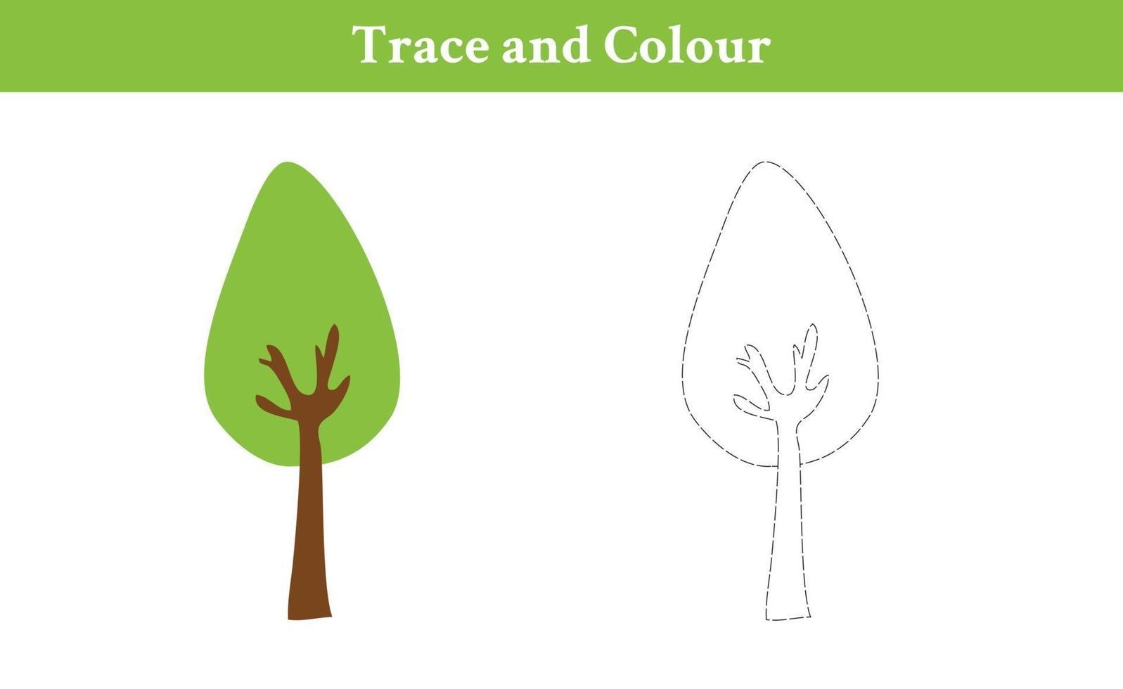 arbre trace et couleur vecteur