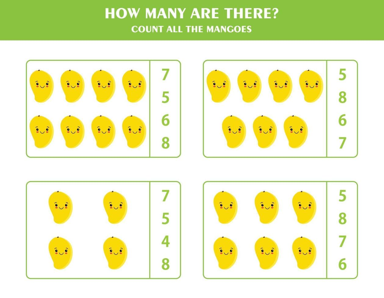 jeu de comptage pour les enfants vecteur