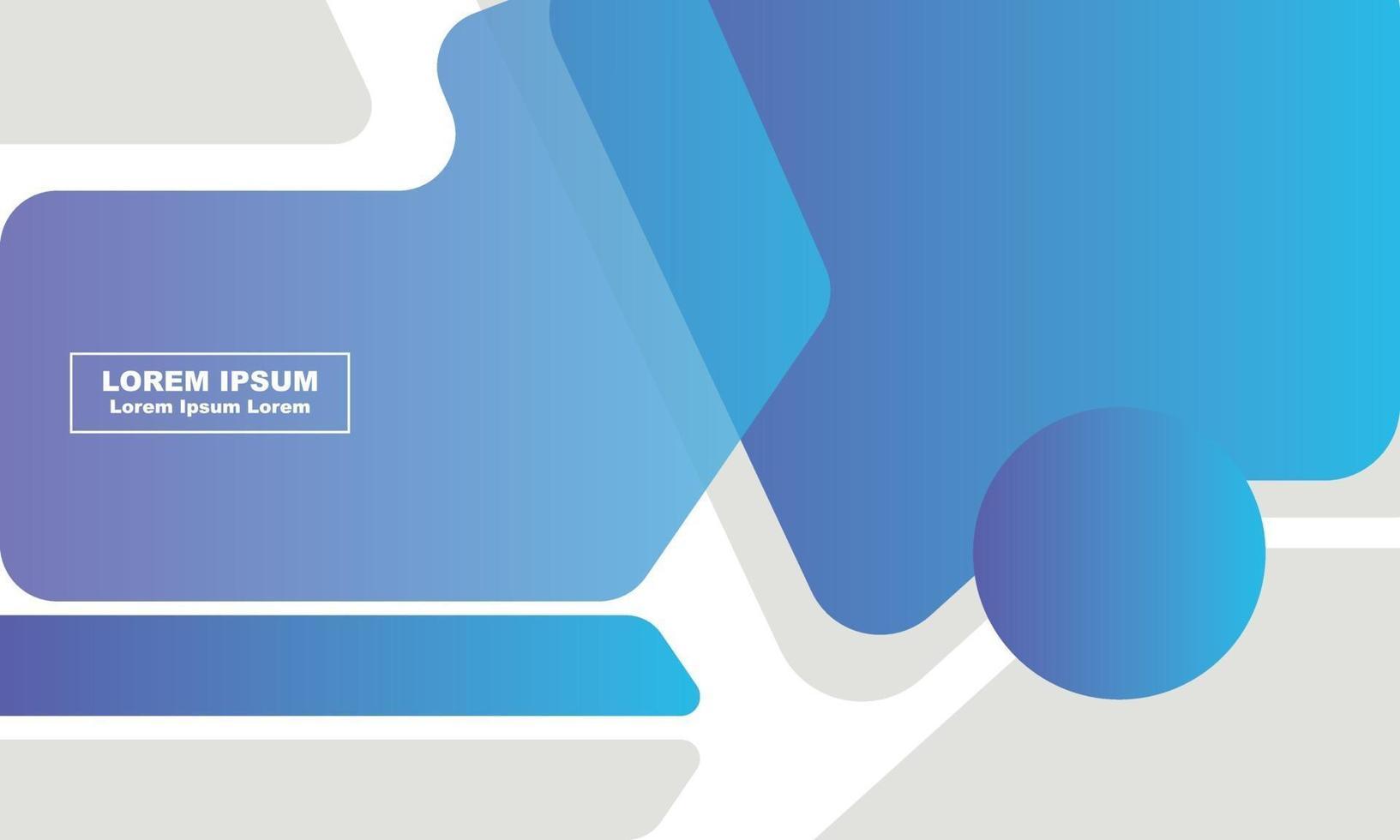 modèle de médias sociaux bleu dégradé abstrait vecteur