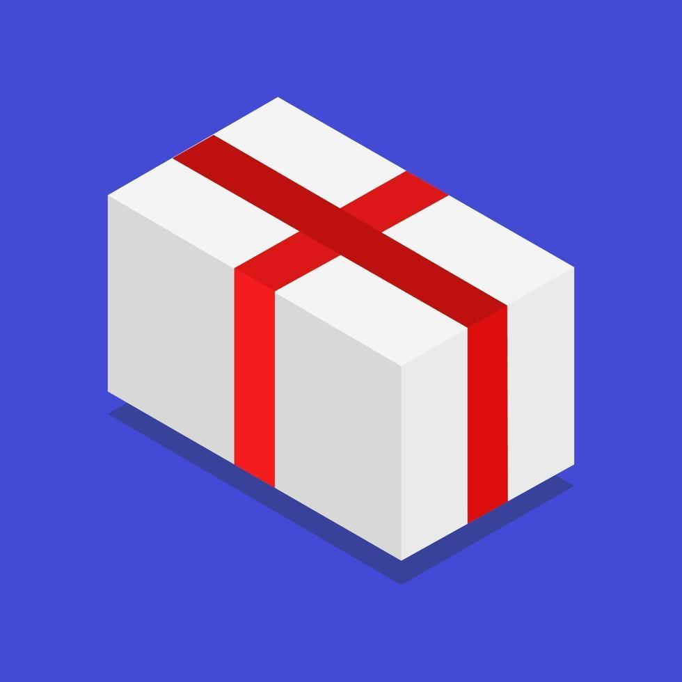 icône de cadeau sur fond vecteur