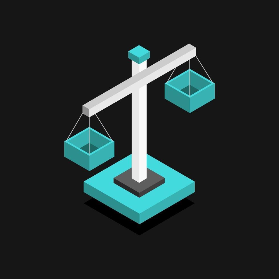 icône d & # 39; échelle de poids sur fond vecteur