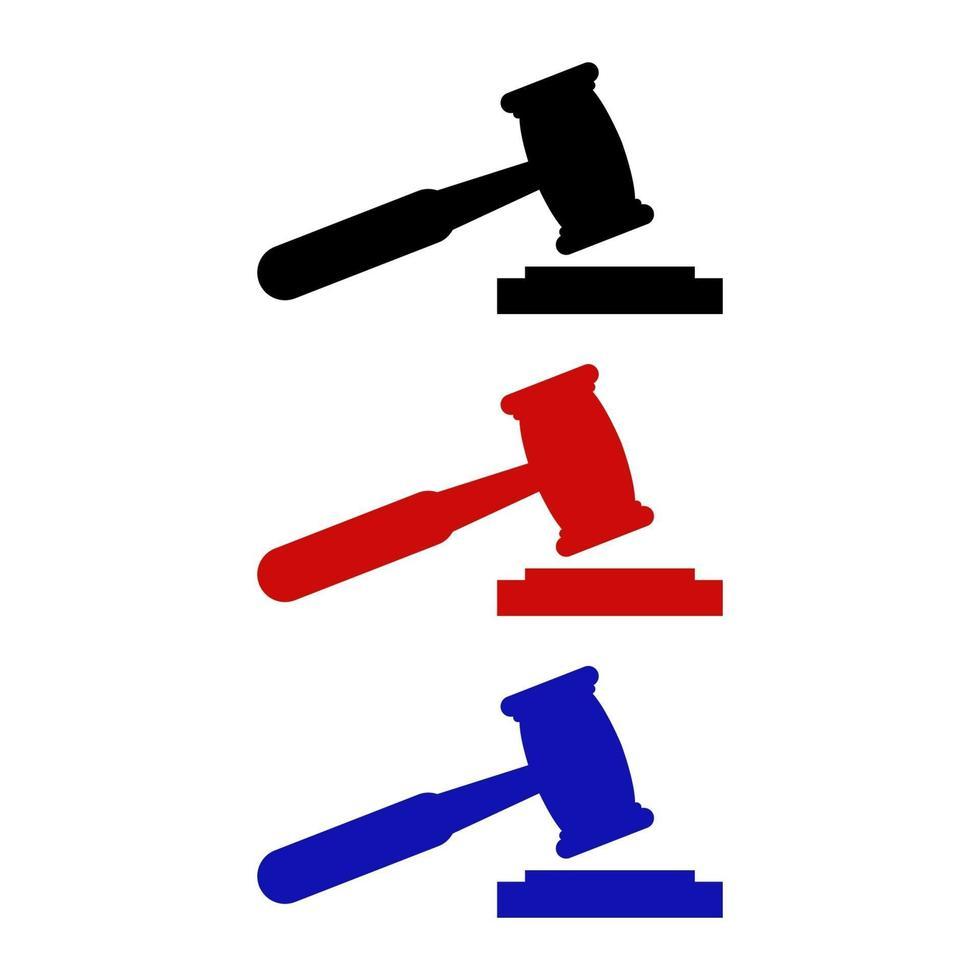 juge, marteau, icône, sur, arrière-plan vecteur