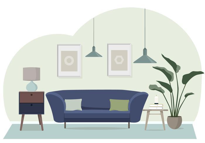 Illustration de salon de vecteur