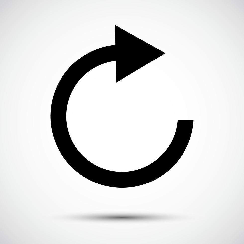 Actualiser l'icône symbole signe isoler sur fond blanc, illustration vectorielle eps.10 vecteur
