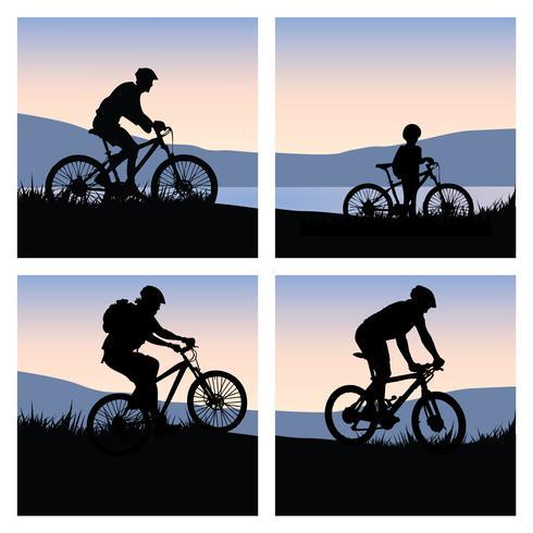 Pack de vélo de montagne vecteur