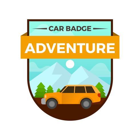 Badge de voiture plate avec modèle d'illustration vectorielle fond dégradé vecteur