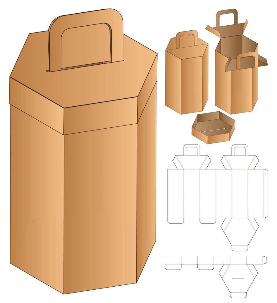 conception de modèle découpé à l'emporte-pièce d'emballage Webbox. Maquette 3D vecteur