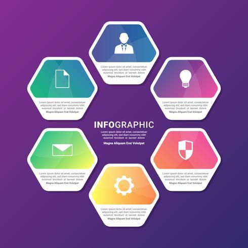 Modèle d'infographie pour présentations d'affaires ou bannière d'information vecteur