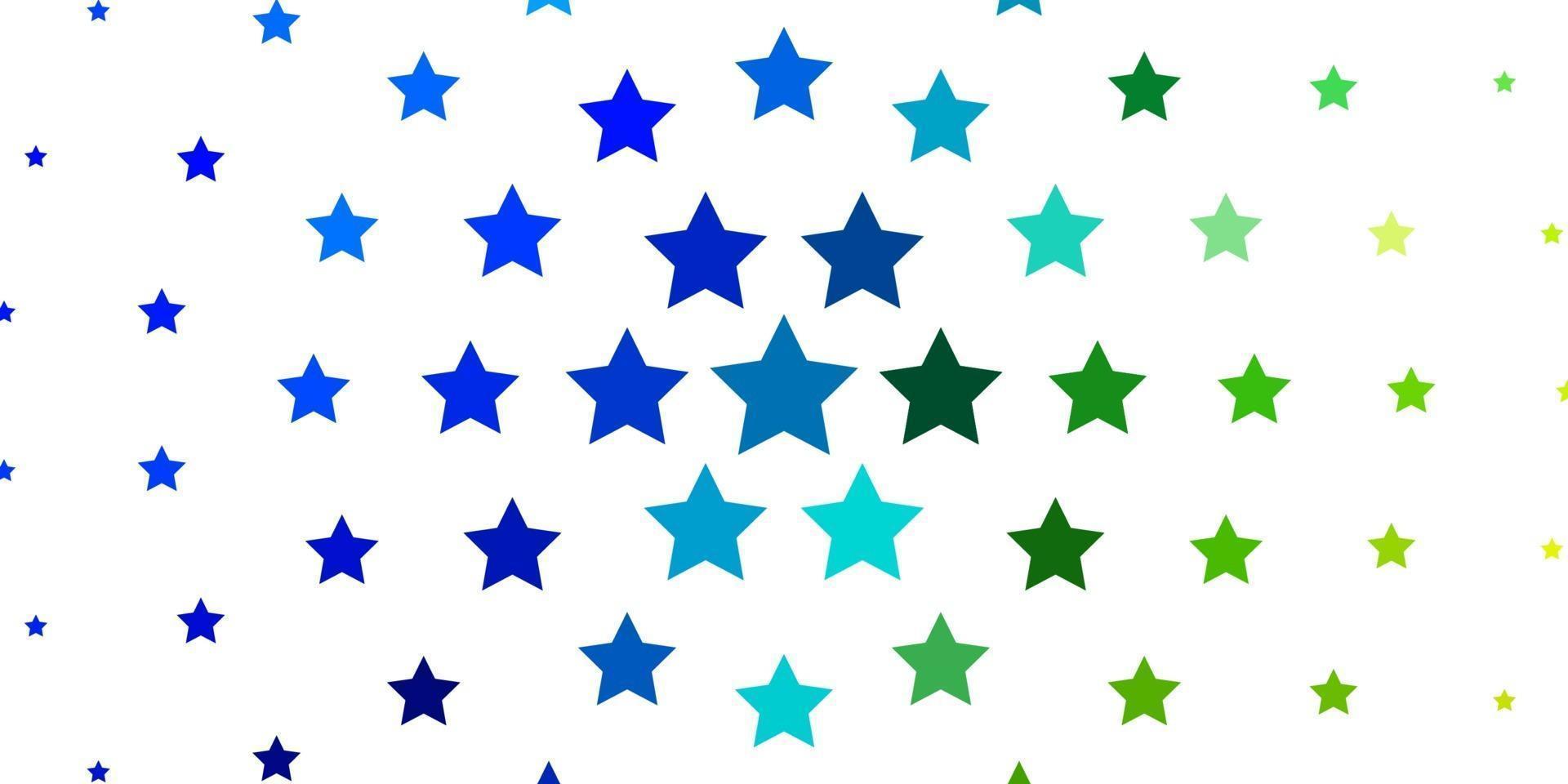 disposition de vecteur bleu clair, vert avec des étoiles brillantes.