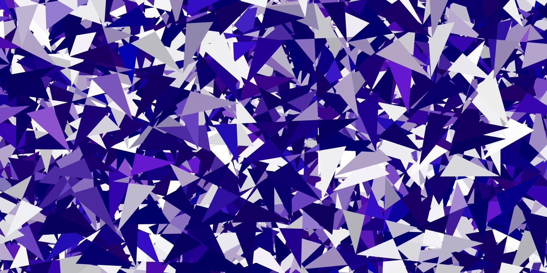 texture vecteur violet clair avec des triangles aléatoires.