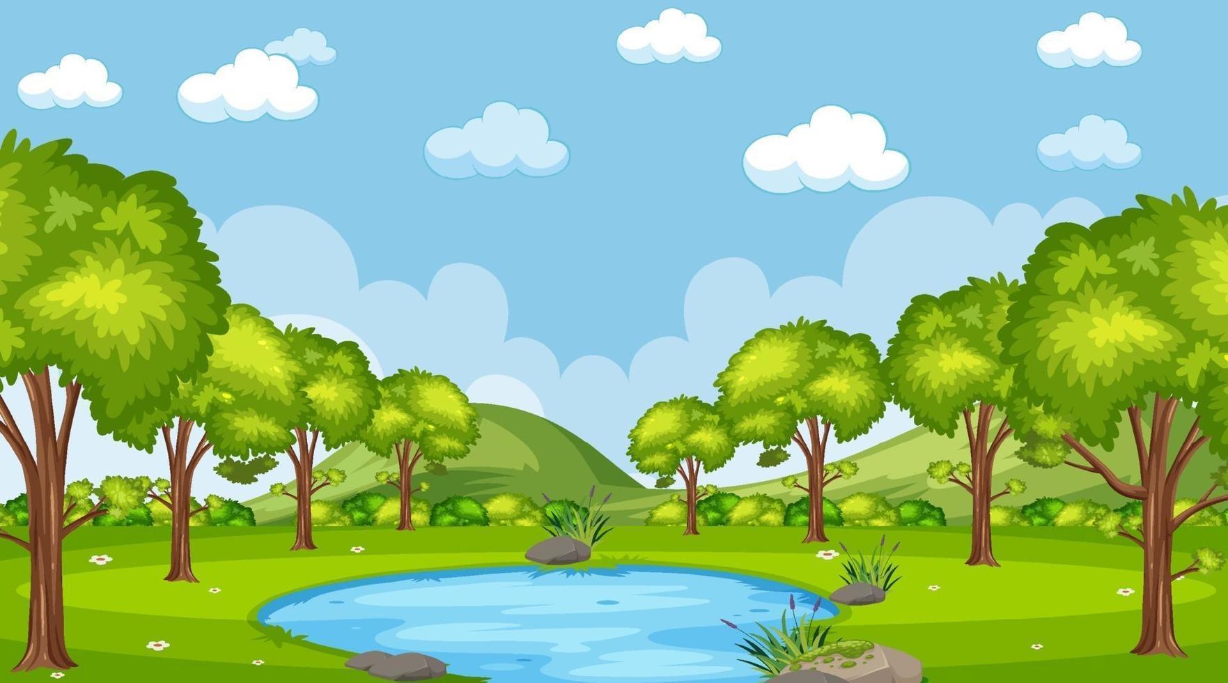 scène de la forêt de la nature vecteur