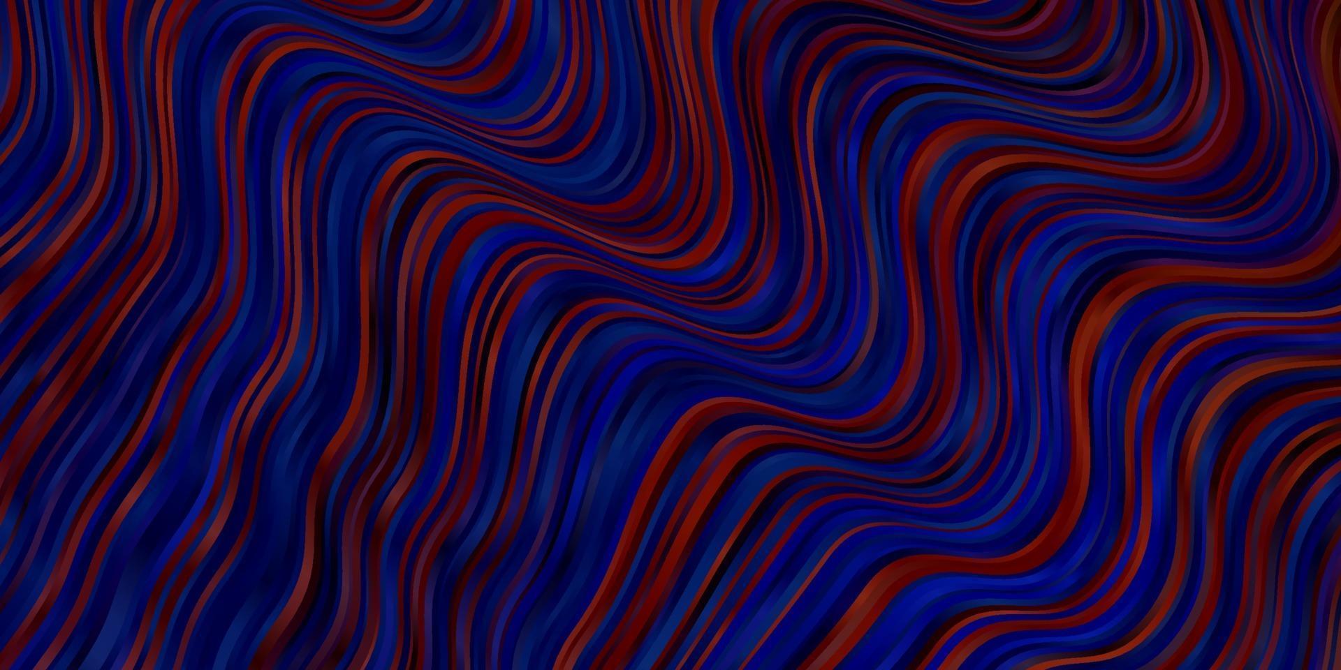 modèle vectoriel bleu clair, rouge avec des lignes courbes.