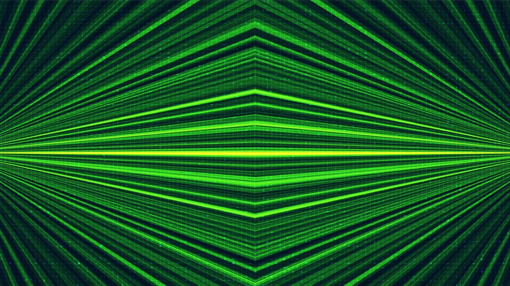 fond de technologie laser vert, conception de concept numérique et de connexion, illustration vectorielle. vecteur