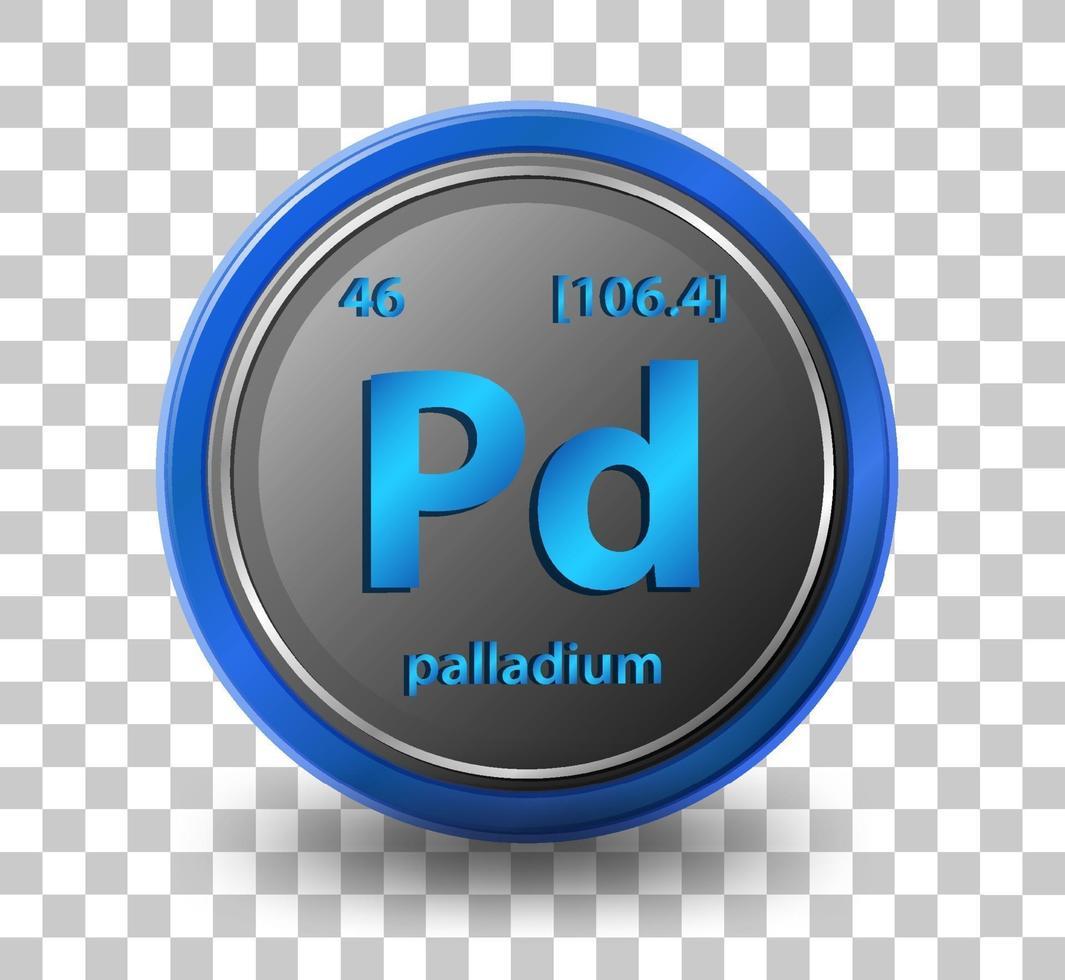 élément chimique de palladium vecteur