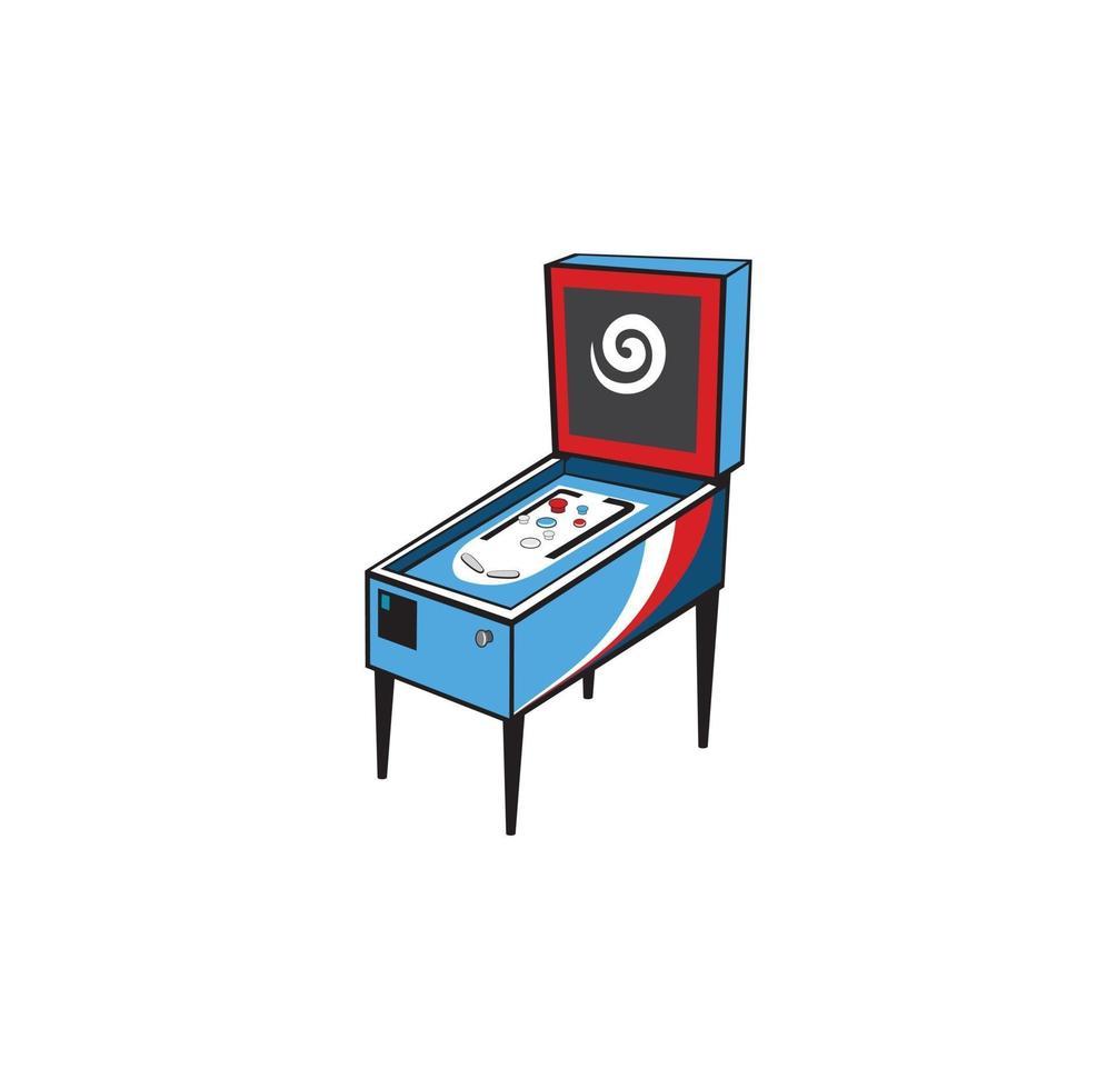 conception de console d'arcade de jeu de flipper vecteur