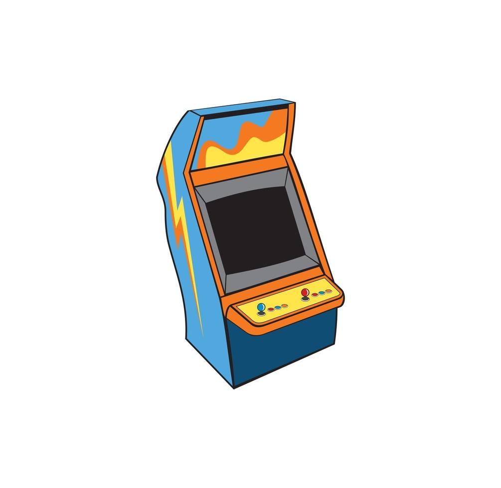 conception de console de jeu d'arcade classique vecteur