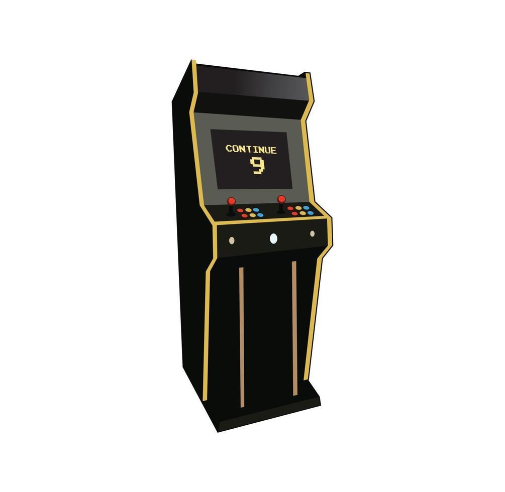 illustration de conception de console de jeu vidéo arcade classique vecteur