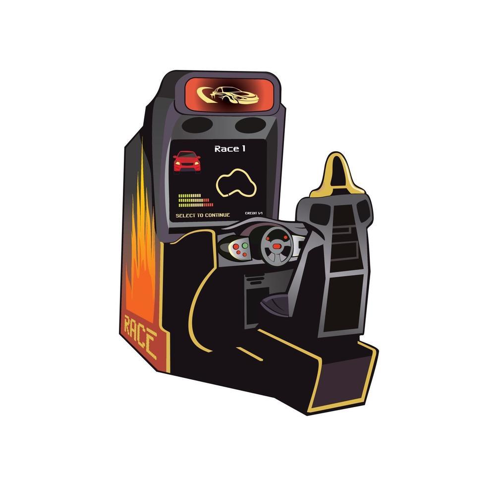 illustration de conception de console de jeu vidéo de course vecteur