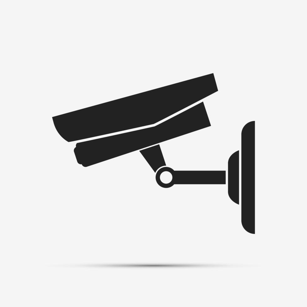 caméra de vidéosurveillance isolée sur fond blanc illustration vectorielle vecteur