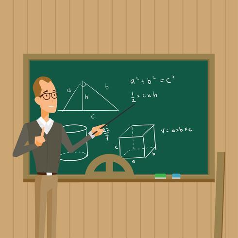 Vecteur de professeur de mathématiques