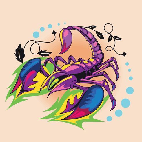 Tatouage chaud 3D tatouage Scorpion vecteur