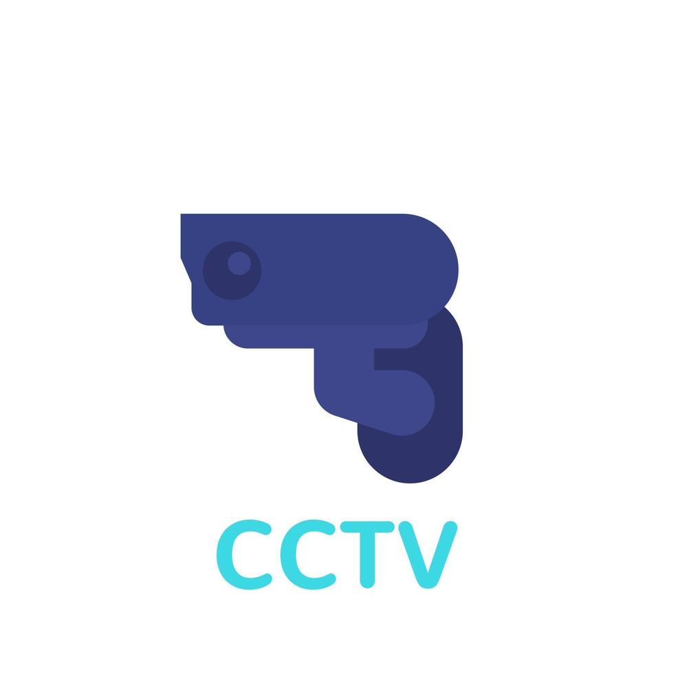icône de vidéosurveillance, vecteur plat de caméra de surveillance